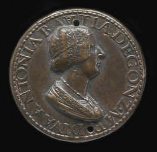 Antonia del Balzo, 1441-1538, Wife of Gianfrancesco Gonzaga di Rodigo 1479 [obverse]