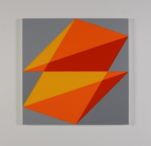 Composition in 2016 Yellow, 2119 Orange, 2662 Red and 3001 Gray