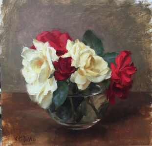 Yellow & Red Garden Roses