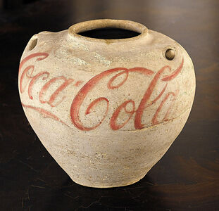 Han Jar Overpainted with Coca-Cola Logo
