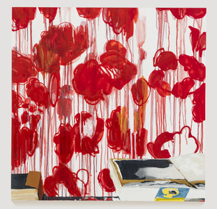 Studio, Roses (after Twombly)