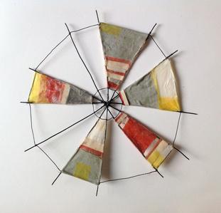 Pinwheel (red/grey)