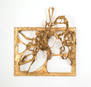 Sculptural Painting Gold I