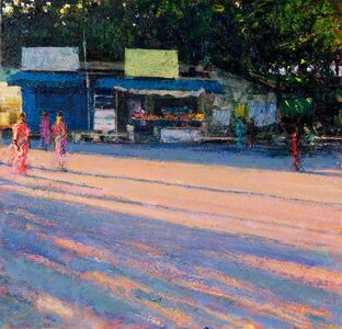 Shop at Last Light, Pondicherry (after the funeral)