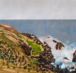 Painting 208 (Moonee Beach)