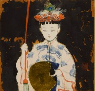 Children in a festival -Gion Matsuri naginata-hoko-