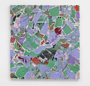 Modern Paintings no. A26, (green, purple, blue and grey abstract, Manchester, April 1999)