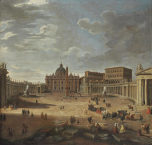 View of Saint Peter's Square, Rome