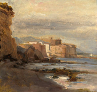 Castle on the Shore; Early Morning
