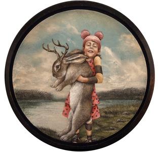Pink Jackalope Hunter