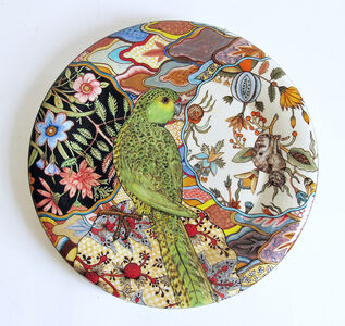 Camouflage Plate: Ground Parrot; Pezoporus Wallicus