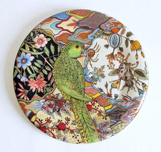 Camouflage Plate: Ground Parrot; Pezoporus Wallicus