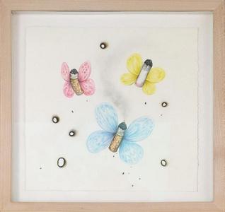 Crap Butterflies (Blue Pink Yellow)