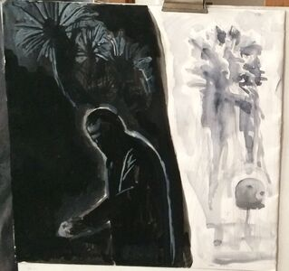 Selfportrait with palm tree, 2012