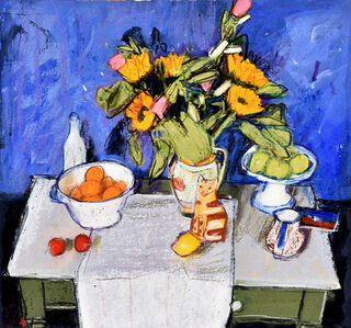 Still Life with Sunflowers I