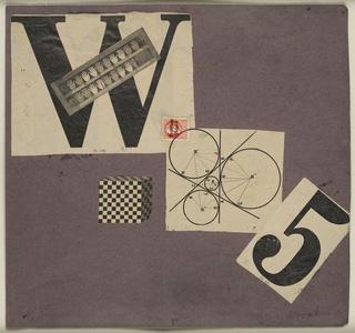 Manifeste W 5 (Weststupidien 5) III. Manifesto, jacket maquette Typoskript-Manifest