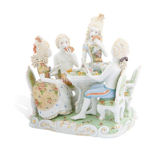 Card Party [Courtesy MEISSEN COUTURE® Art Collection.]