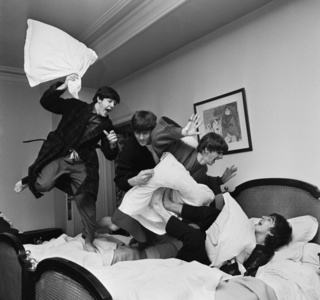 Beatles Pillow Fight, George V Hotel, Paris