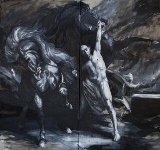 Kazumu avec ses chevaux (Diptych)