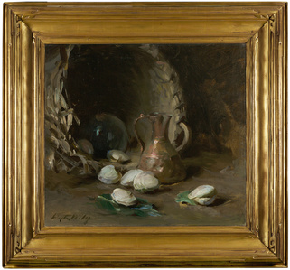 Still Life with Basket, Ewer, and Clams