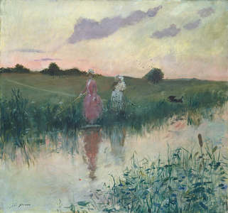The Artist's Wife Fishing