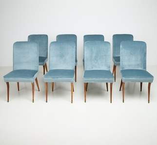 "Set of 8 chairs from ""Casa Caliceti Bologna"""