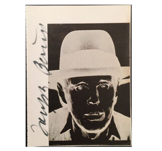"""Joseph Beuys"", Signed by Beuys on Warhol Catalogue Page"