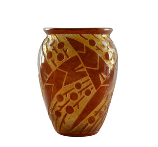 Etched decorative Glass Vase