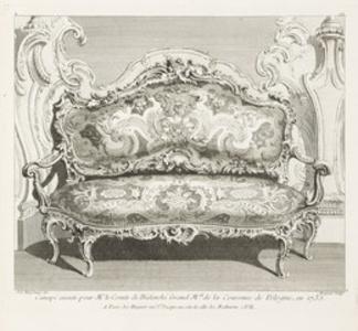 Canapé executé pour Mr. le Comte de Bielinski Grand M.al de la Couronne de Pologne, 4th Plate