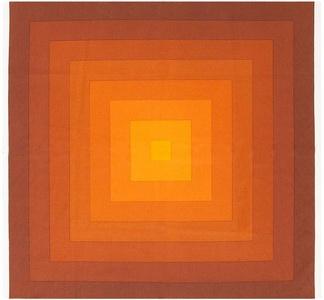 """Vintage Orange """"Quadrat"""" Textile"""