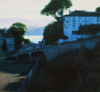 Early Morning, The Bay Bridge from Russian Hill