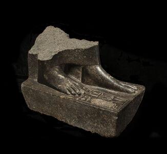 Egyptian granodiorite statue base of Sepdet