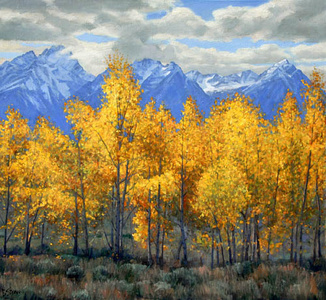 Teton Gold (Jackson Hole, Wyoming) (The sale of this piece benefits the nonprofit Zenith Community Arts Foundation)