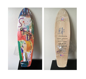 """And Your Friends Are My Friends"", SIGNED by BOTH ARTISTS, Wood Skate Deck Edition"