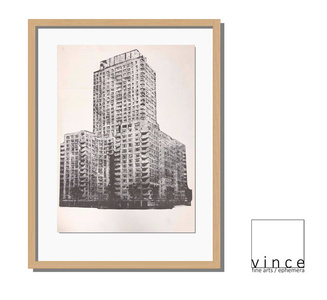 'Untitled' (building), 1964, Exhibition Announcement/Mailer/Poster, Artswager's First Exhibition at Leo Castelli Gallery NYC