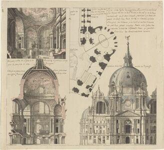 Three Views and a Plan of a Triangular Parish Church