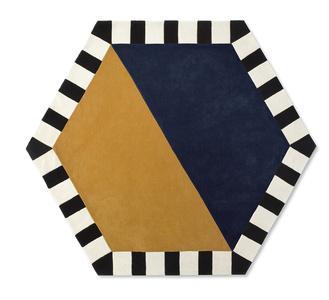 Large Hexagon - Blue Moon