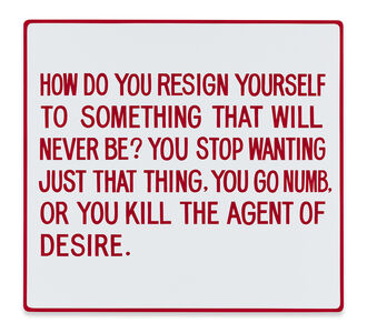 How do you resign yourself to something... Text: Living (1980-1982)