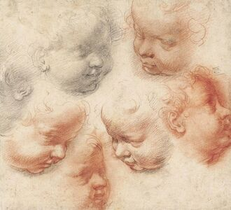 Studies of the heads of putti