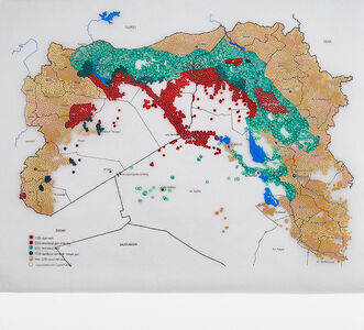 Global Coalition – mapping a conflict without border: areas of influence in Syria and Iraq