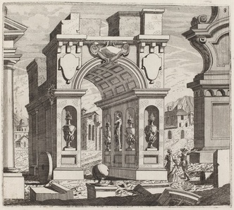 Architectural Fantasy with a Triumphal Arch