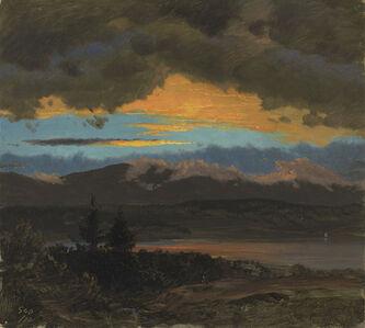 Sunset across the Hudson Valley, New York