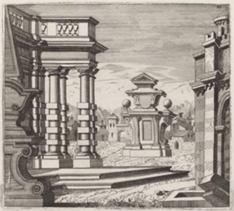 Architectural Fantasy with Portals and Monuments