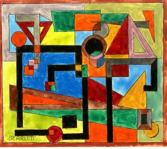 Untitled Geometric Abstraction (Estate Stamped)