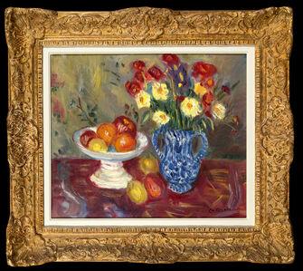Nature Morte, Vase, Fruits et Fleurs
