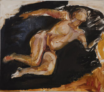 Nude with White and Black Sleeping