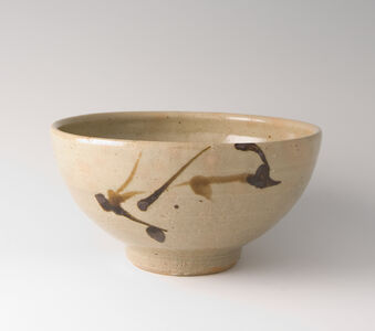 Bowl, tetsue brushwork