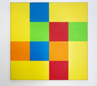 Gruppe von acht Quadraten mit vier Rechtecken