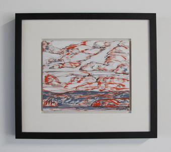 Untitled/Red/Grey/Landscape