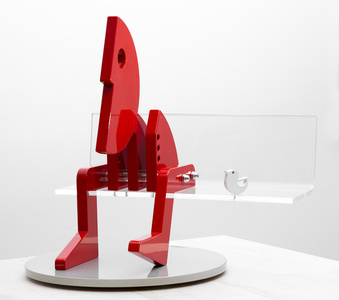 Thinker & Bird (Red)